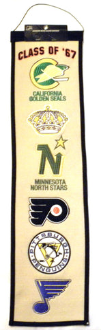 "NHL Class of 1967 8""x32"" Wool Heritage Banner"