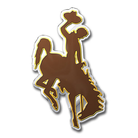 Wyoming Cowboys Die Cut Color Auto Emblem