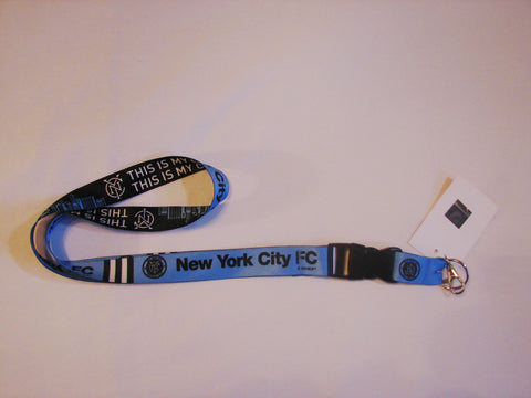 "New York City FC 22"" Lanyard with Detachable Buckle"