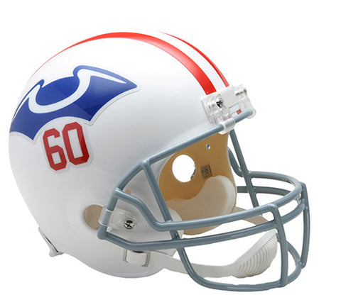 New England Patriots Throwback 1960 Riddell Deluxe Replica Helmet
