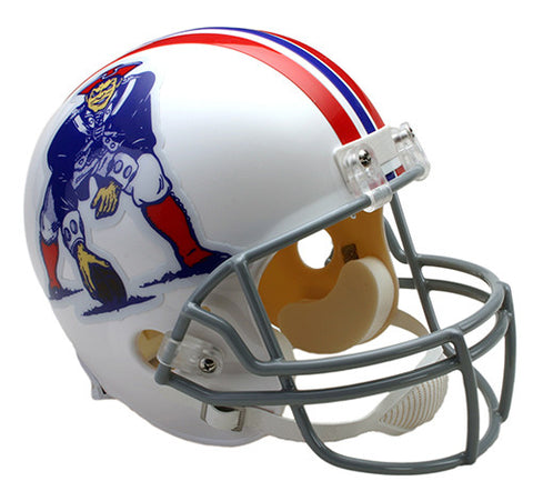 New England Patriots Throwback 1965-1981 Riddell Deluxe Replica Helmet