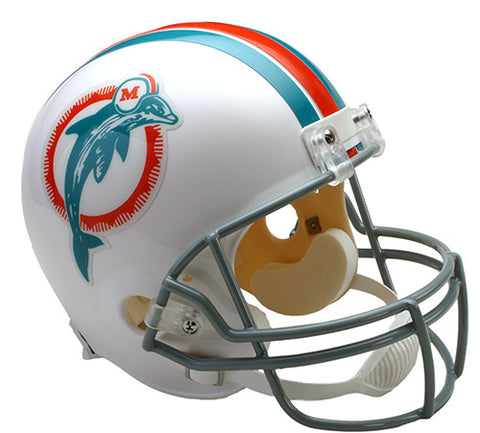 Miami Dolphins Throwback 1973-1979 Riddell Deluxe Replica Helmet