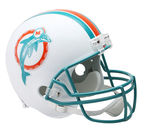 Miami Dolphins Throwback 1980-1996 Riddell Deluxe Replica Helmet