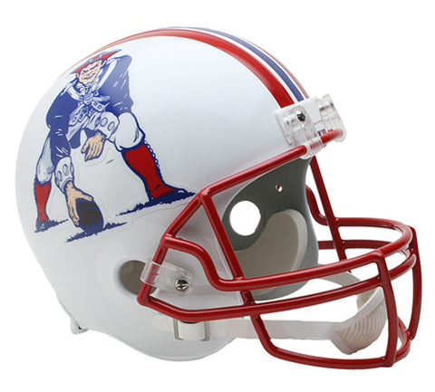 New England Patriots Throwback 1990-1992 Riddell Deluxe Replica Helmet