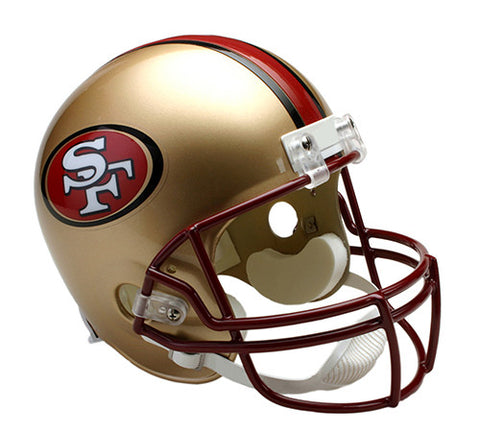 San Francisco 49ers Throwback 1996-2008 Riddell Deluxe Replica Helmet