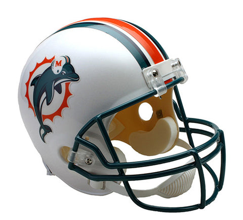Miami Dolphins Throwback 1997-2012 Riddell Deluxe Replica Helmet