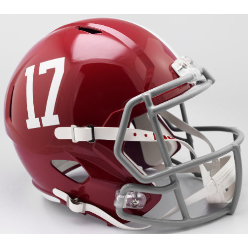 Alabama Crimson Tide #17 Riddell Deluxe Replica Speed Helmet