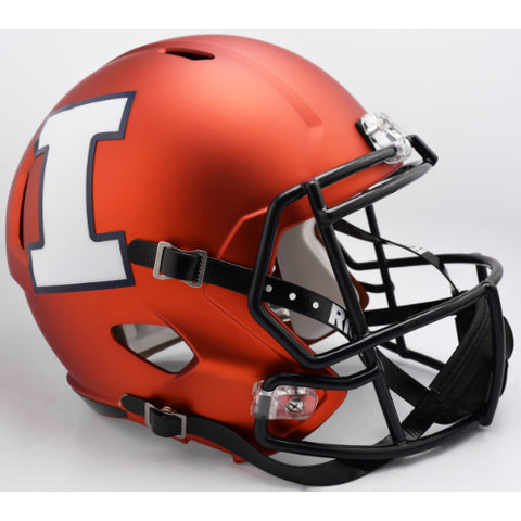 Illinois Fighting Illini Riddell Deluxe Replica Speed Helmet - 2017 Orange Pearl