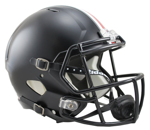 Ohio State Buckeyes Riddell Deluxe Replica Speed Helmet - Matte Black Alternate