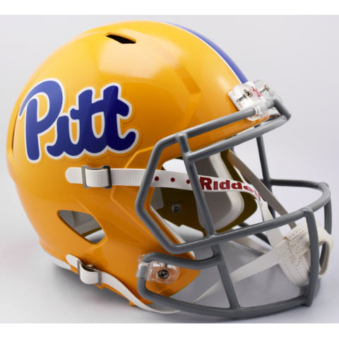 Pitt Panthers Riddell Deluxe Replica Speed Helmet - Gold Throwback