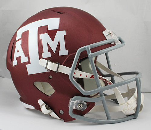 Texas A&M Aggies Riddell Deluxe Replica Speed Helmet - Maroon