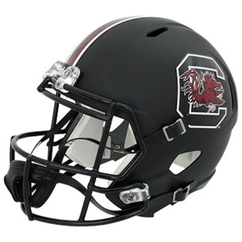 South Carolina Gamecocks Riddell Deluxe Replica Speed Helmet - Matte Black