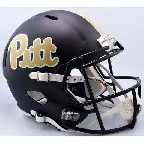 Pitt Panthers Riddell Deluxe Replica Speed Helmet - Matte Navy