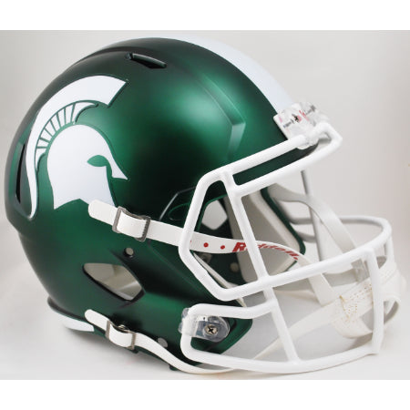 Michigan State Spartans Riddell Deluxe Replica Speed Helmet - Satin Green