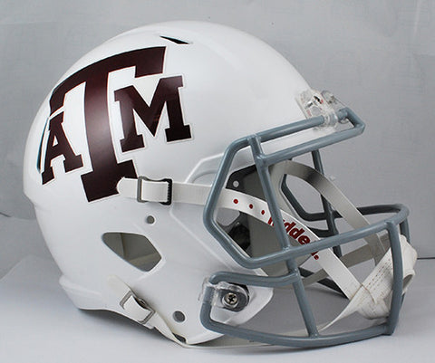 Texas A&M Aggies Riddell Deluxe Replica Speed Helmet - White