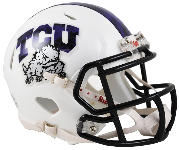 TCU Horned Frogs Riddell Deluxe Replica Speed Helmet - Frog Skin
