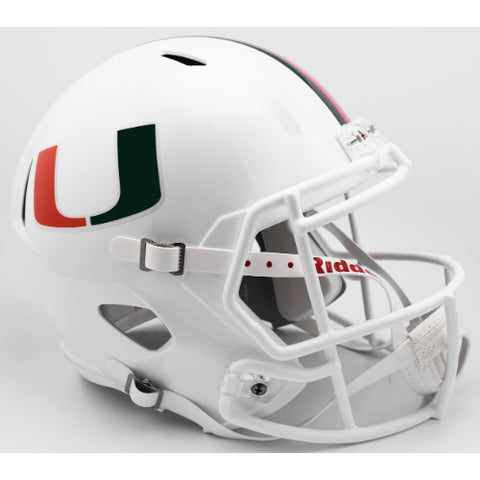 Miami Hurricanes Riddell Deluxe Replica Speed Helmet