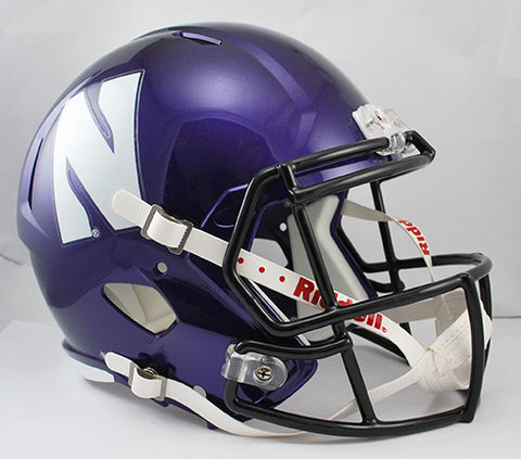 Northwestern Wildcats Riddell Deluxe Replica Speed Helmet