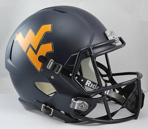 West Virginia Mountaineers Riddell Deluxe Replica Speed Helmet