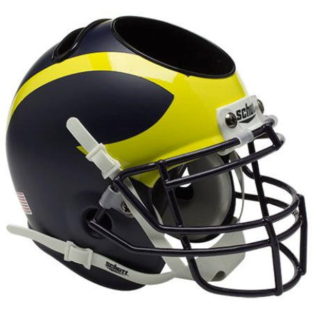 Michigan Wolverines Schutt Mini Helmet Desk Caddy - Alternate 1