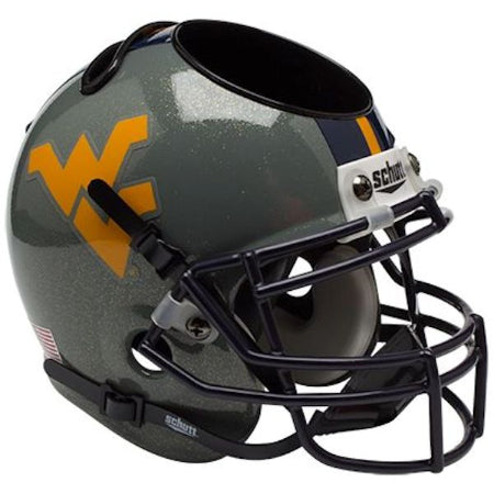West Virginia Mountaineers Schutt Mini Helmet Desk Caddy - Alternate 1