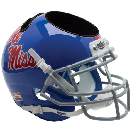 Mississippi Rebels Schutt Mini Helmet Desk Caddy - Alternate 1