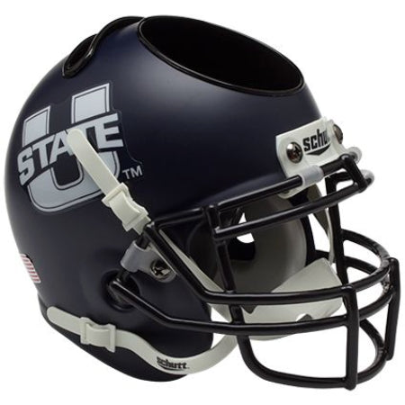 Utah State Aggies Schutt Mini Helmet Desk Caddy - Alternate 1