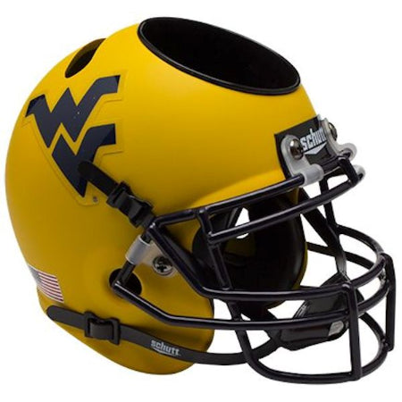 West Virginia Mountaineers Schutt Mini Helmet Desk Caddy - Alternate 2