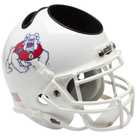 Fresno State Bulldogs Schutt Mini Helmet Desk Caddy - Alternate 2