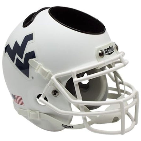 West Virginia Mountaineers Schutt Mini Helmet Desk Caddy - Alternate 3
