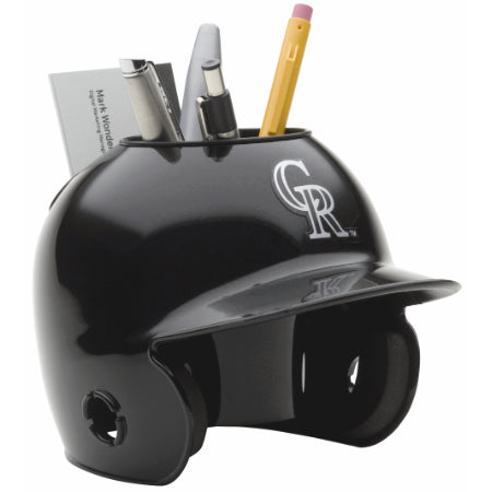 Colorado Rockies Schutt Mini Helmet Desk Caddy