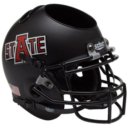 Arkansas State Red Wolves Schutt Mini Helmet Desk Caddy