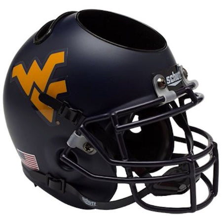 West Virginia Mountaineers Schutt Mini Helmet Desk Caddy