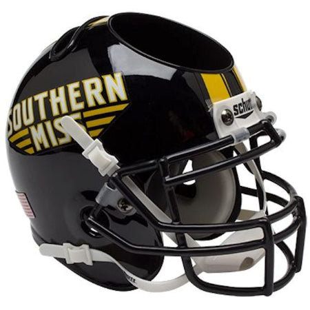 Southern Mississippi Golden Eagles Schutt Mini Helmet Desk Caddy