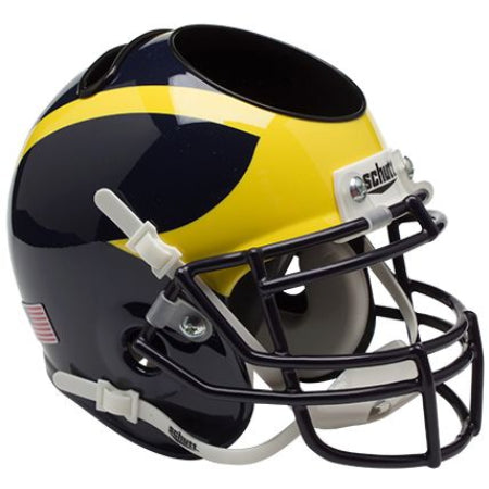 Michigan Wolverines Schutt Mini Helmet Desk Caddy