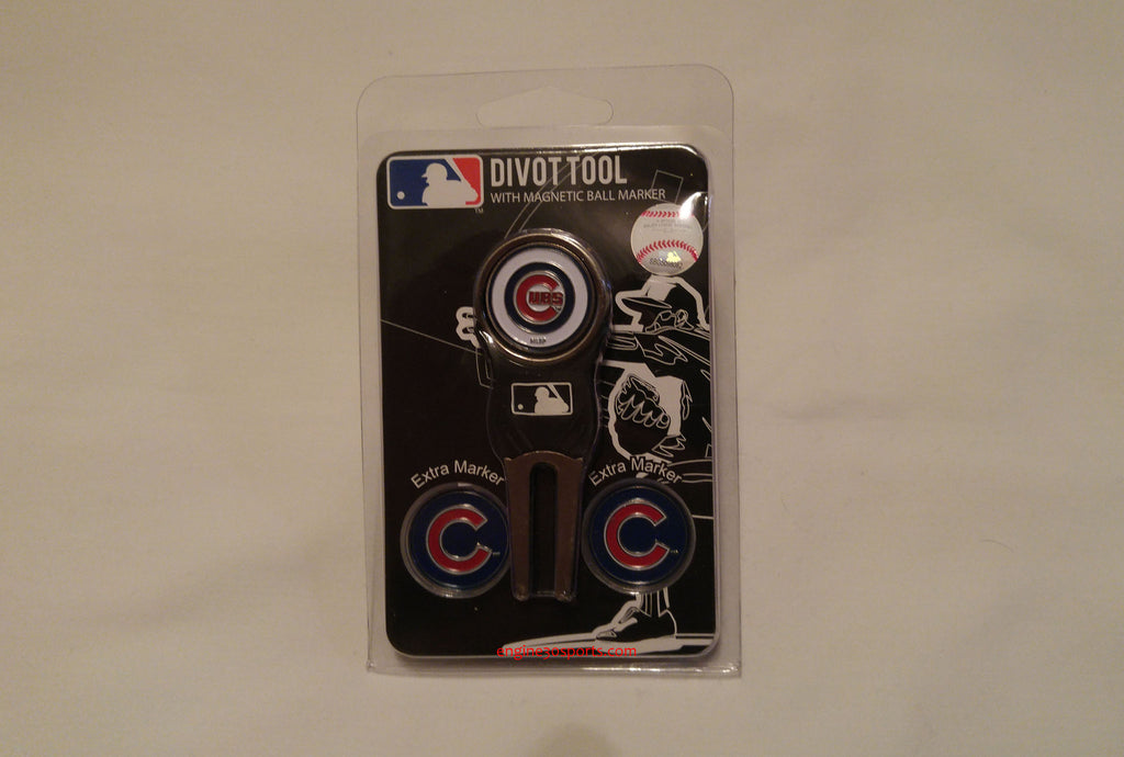 Chicago Cubs Golf Divot Tool with 3 Magnetic Markers