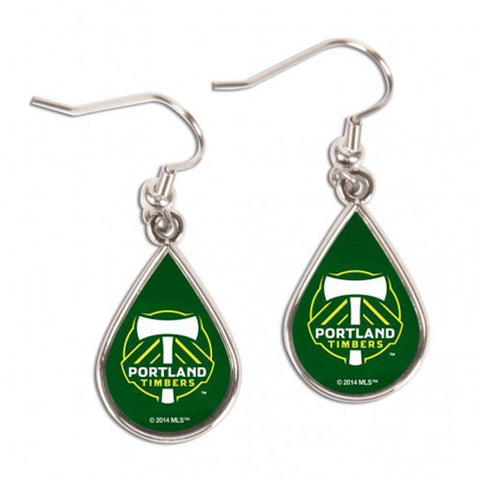 Portland Timbers Tear Drop Earrings