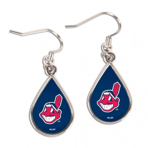 Cleveland Indians Chief Wahoo Tear Drop Earrings