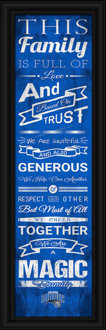 "Orlando Magic 8""x24"" Family Cheer Print"