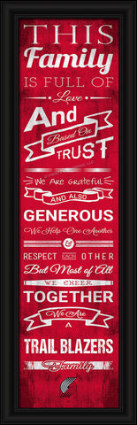 "Portland Trail Blazers 8""x24"" Family Cheer Print"