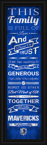 "Dallas Mavericks 8""x24"" Family Cheer Print"