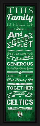 "Boston Celtics 8""x24"" Family Cheer Print"