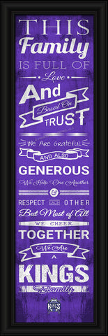 "Sacramento Kings 8""x24"" Family Cheer Print"