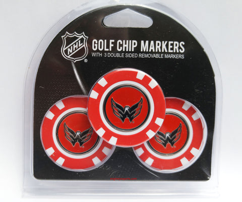 Washington Capitals Golf Chip with Marker - 3 Pack