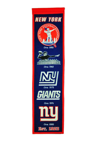 "New York Giants 8""x32"" Wool Heritage Banner"