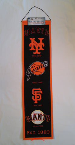"San Francisco Giants 8""x32"" Wool Heritage Banner"