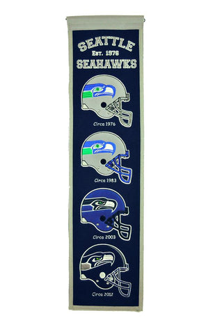 "Seattle Seahawks 8""x32"" Wool Heritage Banner"