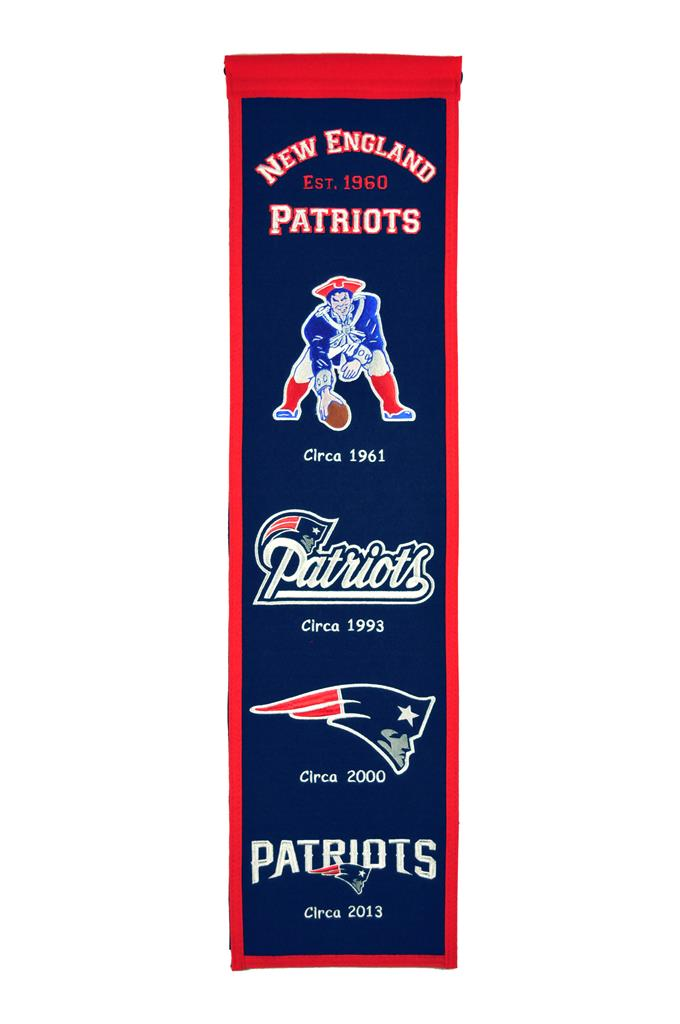 "New England Patriots 8""x32"" Wool Heritage Banner"