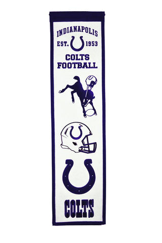 "Indianapolis Colts 8""x32"" Wool Heritage Banner"