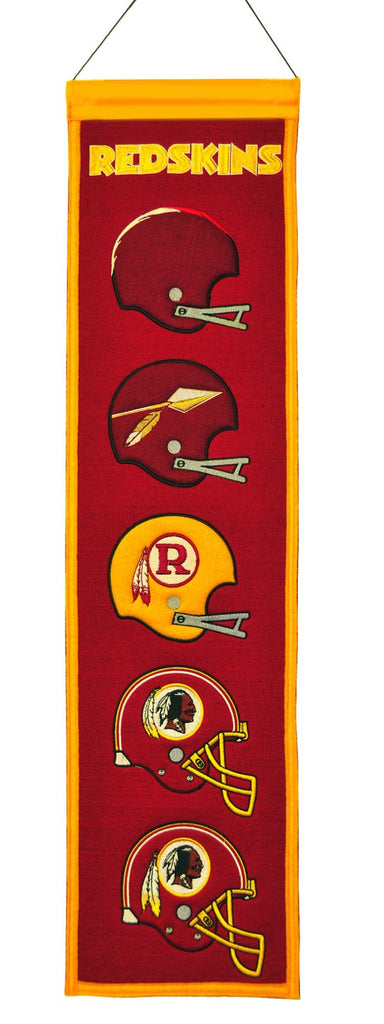 "Washington Redskins 8""x32"" Wool Heritage Banner"